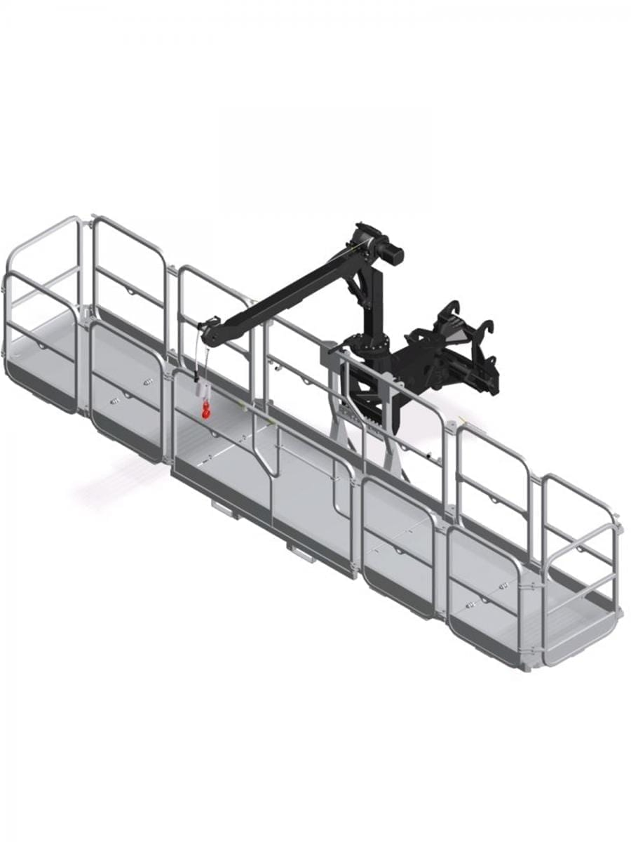 ROTATING EXTENDABLE SAFETY BASKET – 6.5 M 500 KG WITH 600 KG WINCH