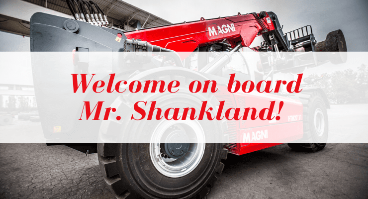 Welcome on board Mr. Shankland!
