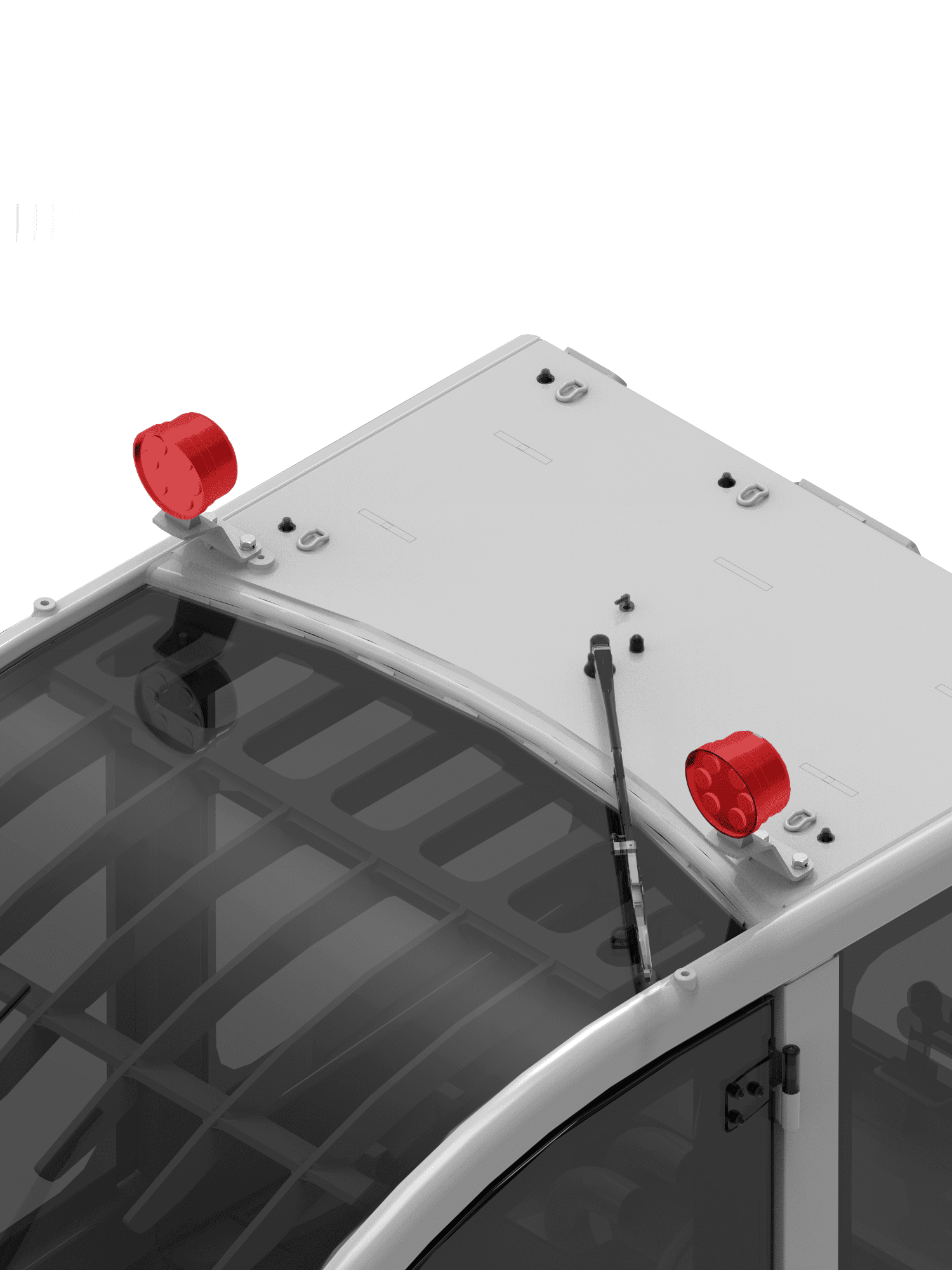 LED LIGHTS ON TOP OF THE CAB FRONT